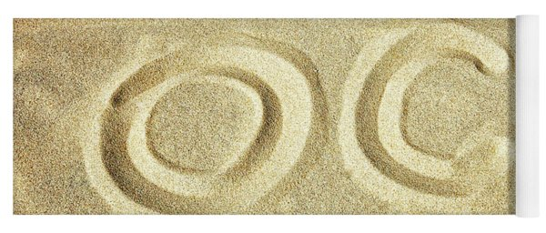 Yoga Mat featuring the photograph O C In The Ocean City Sand by Bill Swartwout Fine Art Photography