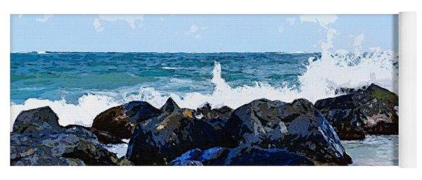 Ocean Meets The Coast Yoga Mat