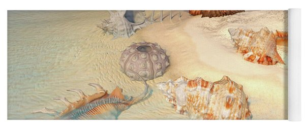 Ocean Shells Yoga Mat