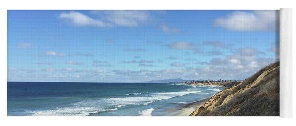 Ocean Surf In Carlsbad, California Yoga Mat