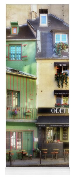 Yoga Mat featuring the photograph Odette Patisserie by Craig J Satterlee