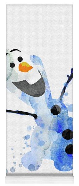 Olaf Watercolor Yoga Mat