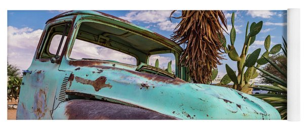 Old And Abandoned Car 7 In Solitaire, Namibia Yoga Mat