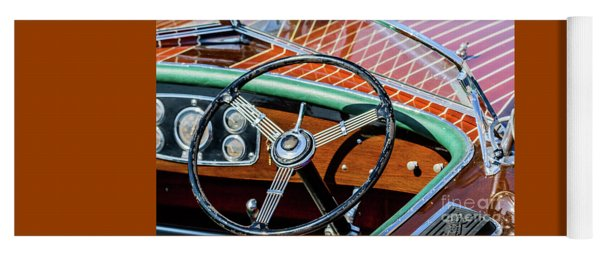 Old Boat Steering Wheel Yoga Mat