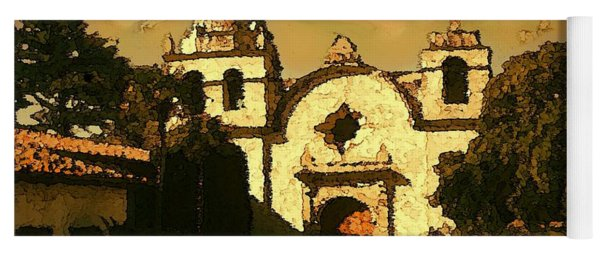 Old Carmel Mission - Watercolor Painting Yoga Mat