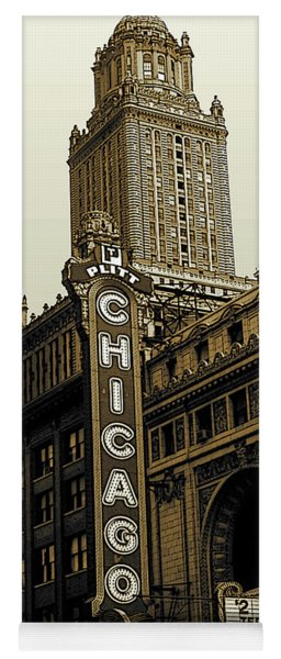 Old Chicago Theater - Vintage Photo Art Yoga Mat