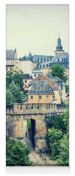 old city Luxembourg from above Yoga Mat