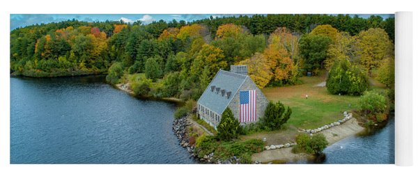 Yoga Mat featuring the photograph Old Glory by Michael Hughes