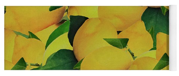 Yoga Mat featuring the photograph Old Gold Lemons by Rockin Docks