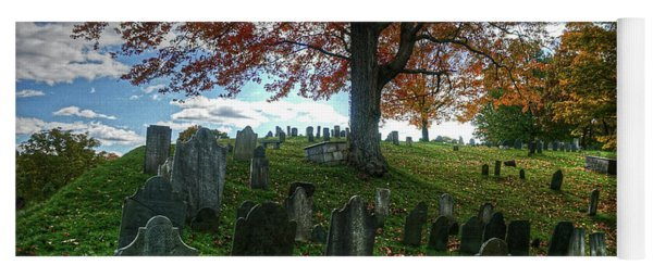 Old Hill Burying Ground In Autumn Yoga Mat