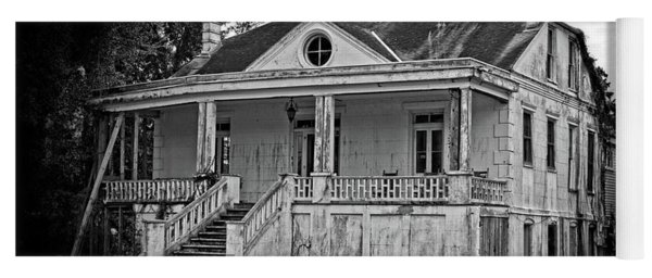Old House Black And White Yoga Mat