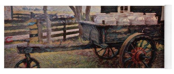 Old Milk Wagon Yoga Mat