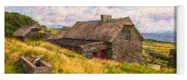 Old Scottish Farmhouse Yoga Mat