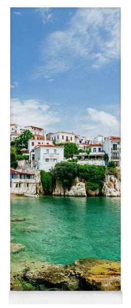 Old Town View Of Skiathos Island, Sporades, Greece.  Yoga Mat