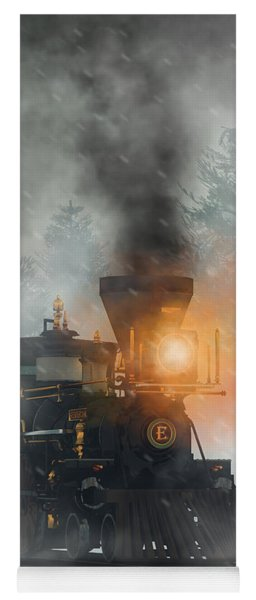 Yoga Mat featuring the digital art Old West Steam Train  by Daniel Eskridge
