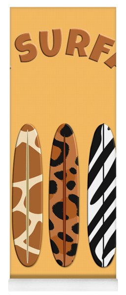 On Surfari Animal Print Surfboards  Yoga Mat
