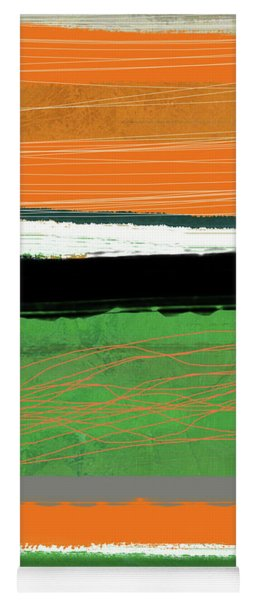Orange And Green Abstract II Yoga Mat