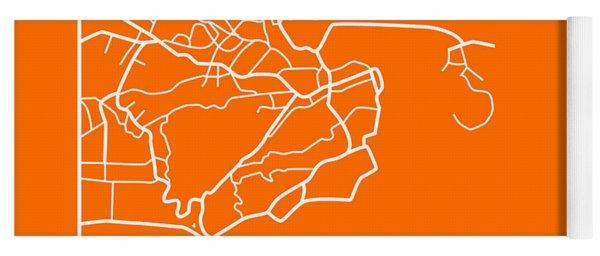 Orange Map Of Rio De Janeiro Yoga Mat