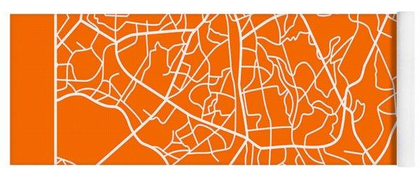 Orange Map Of Sao Paulo Yoga Mat