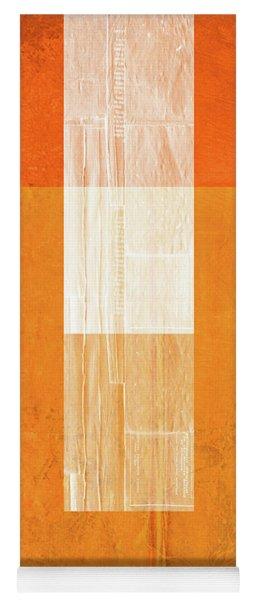 Orange Paper II Yoga Mat