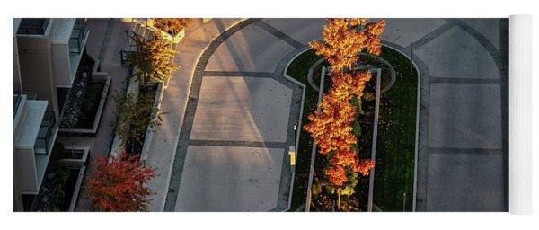 Orange Trees In Autumn Yoga Mat