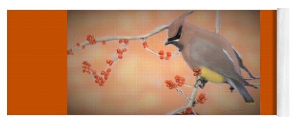 Orchard Waxwing Yoga Mat