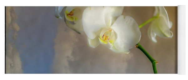 Orchid With Clouds Yoga Mat