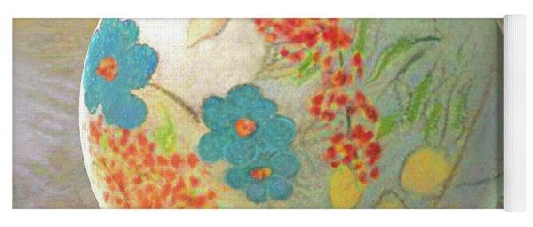 Oriental Floralscape  Yoga Mat