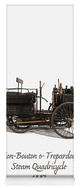 Original Steam Carriage From 1887 Yoga Mat