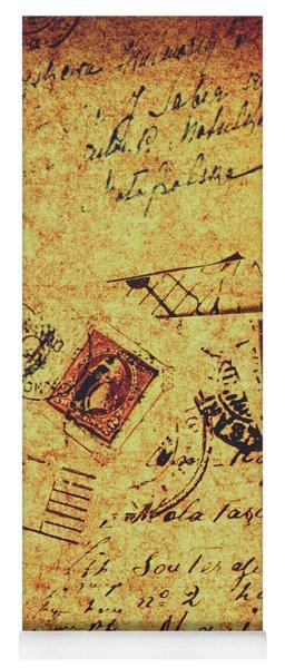 Ornate Postal Grunge Yoga Mat