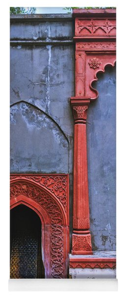 Ornate Red Wall Yoga Mat