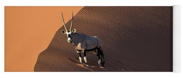 Oryx On The Edge, Namibia Yoga Mat