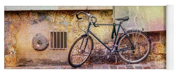 Yoga Mat featuring the photograph Ostrad Bicycle by Craig J Satterlee