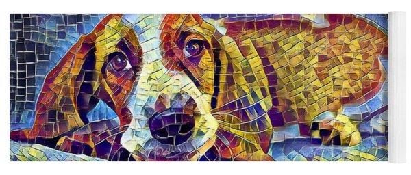 Otis The Potus Basset Hound Dog Art  Yoga Mat