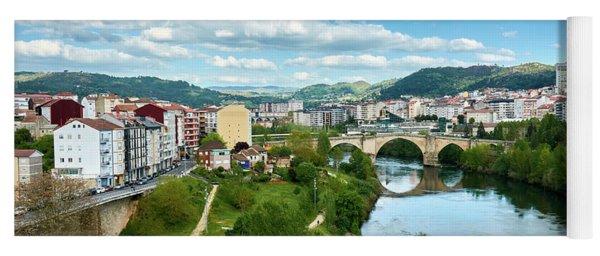 Ourense And The Roman Bridge From The Millennium Bridge Yoga Mat
