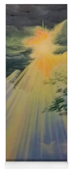 Out Of Darkness His Light Shall Shine Yoga Mat