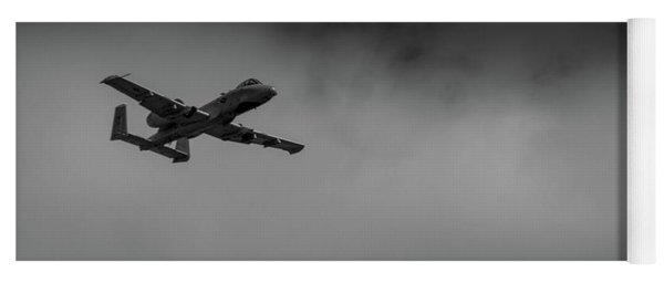 Yoga Mat featuring the photograph Out Of The Clouds - A-10c Thunderbolt by Doug Camara