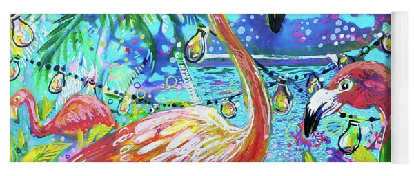 Outdoor Flamingo Party Yoga Mat