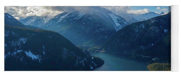 Over Diablo Lake Cloudscape Yoga Mat