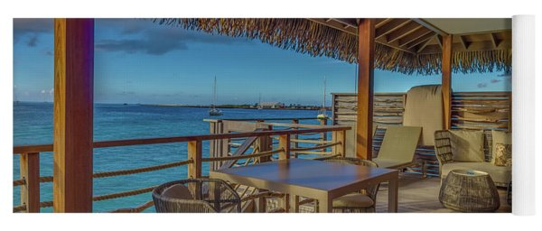 Over The Water Bungalow French Polynesia Tahiti Yoga Mat