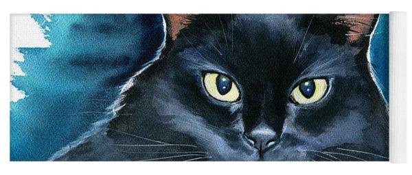Ozzy Black Cat Painting Yoga Mat