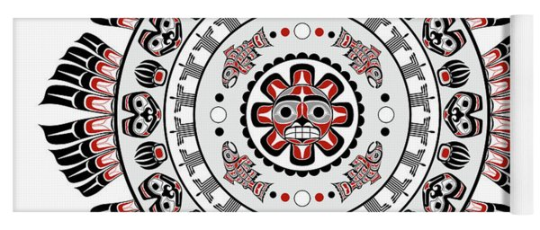 Pacific Northwest Native American Art Mandala Yoga Mat