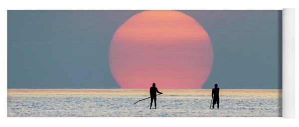 Sunrise Paddle Boarding Yoga Mat