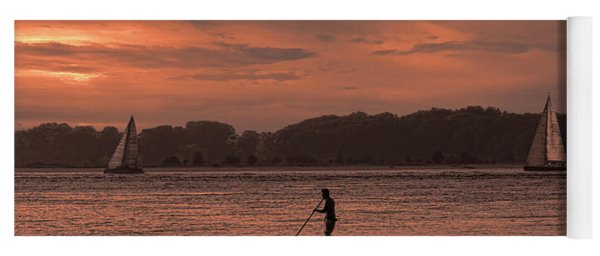 Paddleboarding On The Great Peconic Bay Yoga Mat