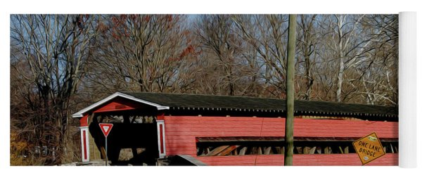 Painted Bridge At Chads Ford Pa Yoga Mat