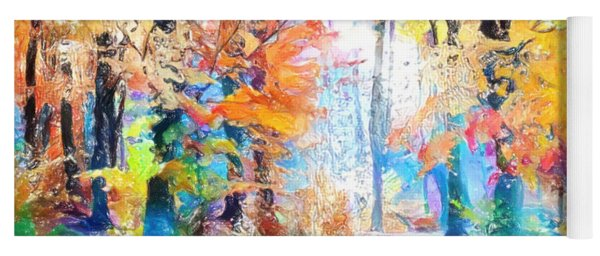 Yoga Mat featuring the painting Painted Forest by Chris Armytage