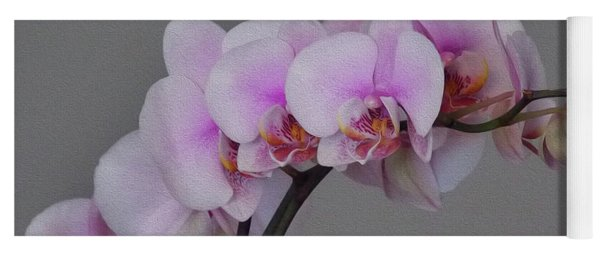Painted Orchids Yoga Mat