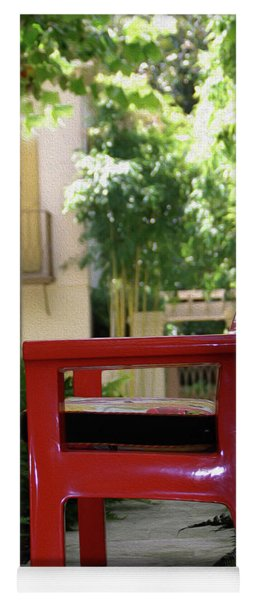 Painted Red Chair Yoga Mat