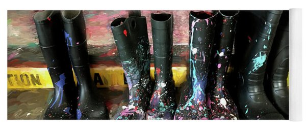 Painty Boots Yoga Mat
