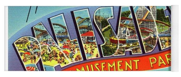 Palisades Amusement Park Greetings Yoga Mat